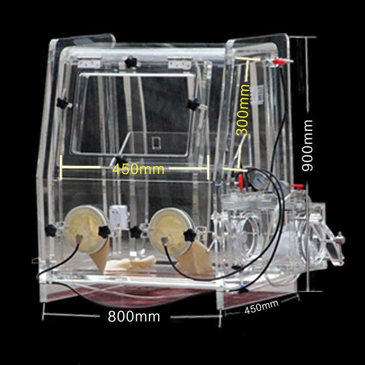 有机玻璃简易手套箱MT849-C(实验单人防尘简易类)