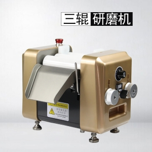实验小型三辊研磨机(高端氧化锆滚轴款)